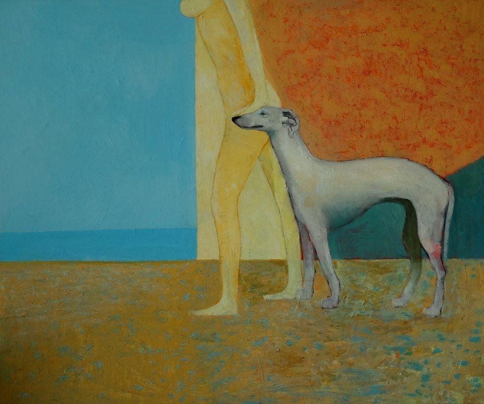 woman-and-dog