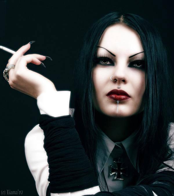 goth with cig