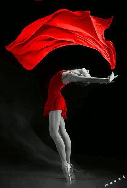 red dancer ballet girl