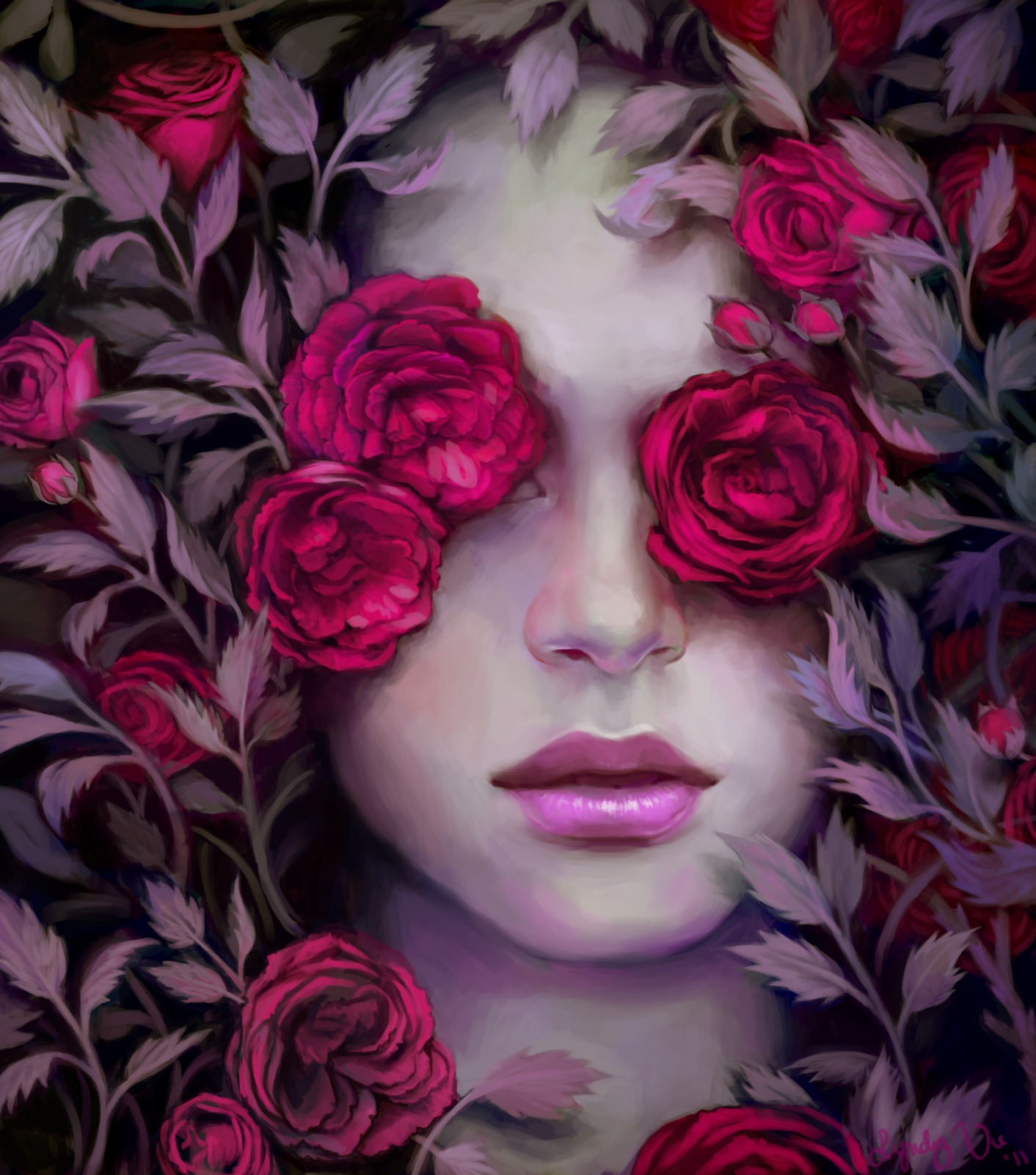 A  eyes on roses