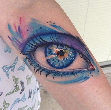 tattoo eye arm