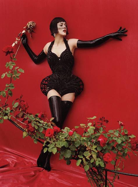 girl black goth rose