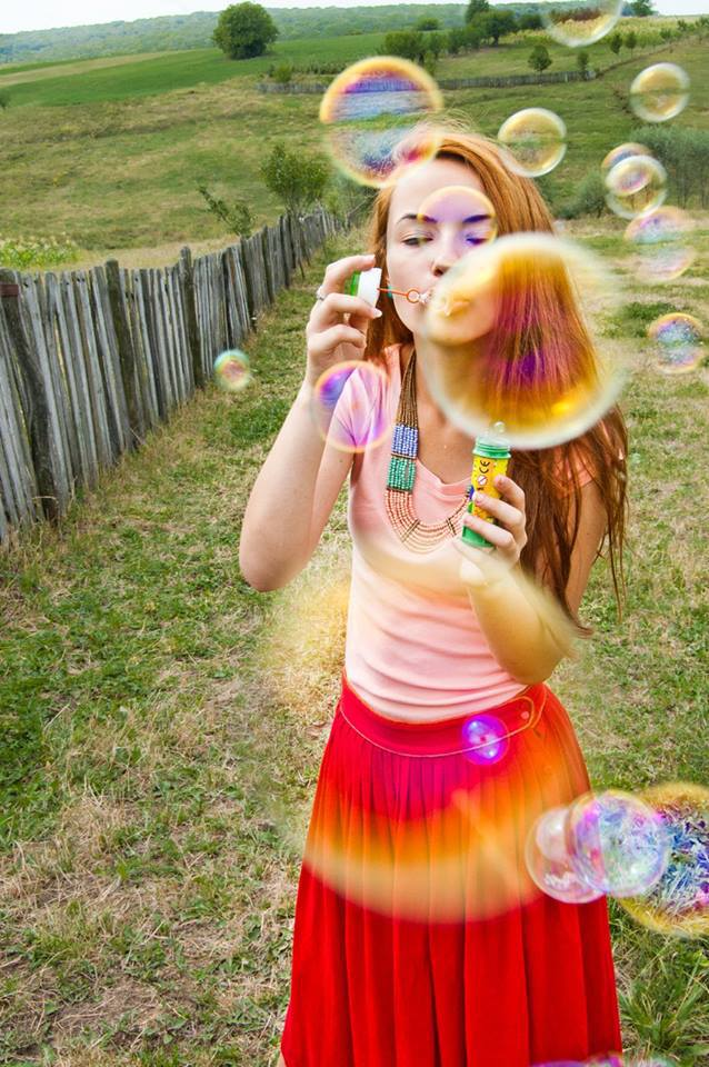 girl bubbles