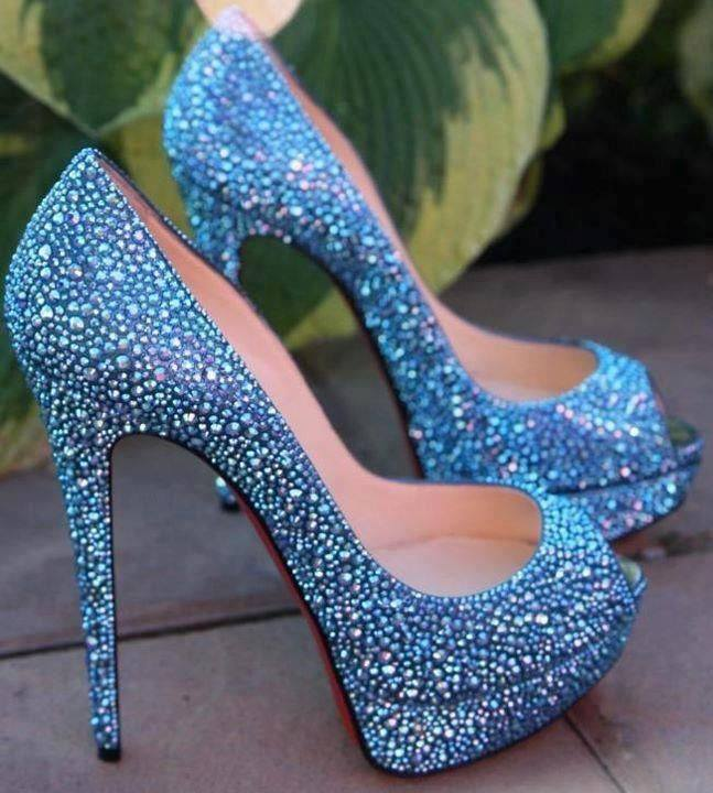 shoes high blue