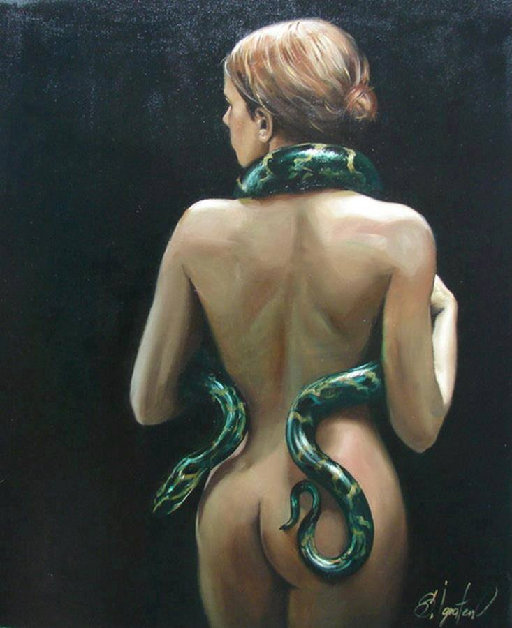 woman-and-snakes